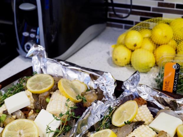 Oven and Foil Shrimp Boil